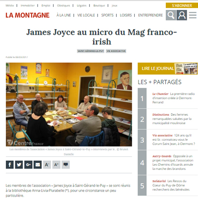 Le Mag featured in French newspaper La Montagne
